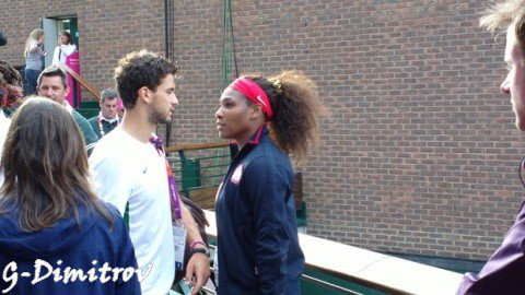 Grigor et Serena Williams
