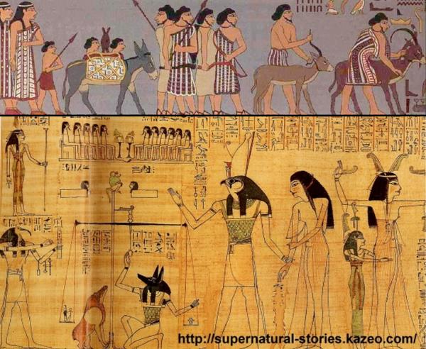 GEANTS DANS LES FRESQUES EGYPTIENNES