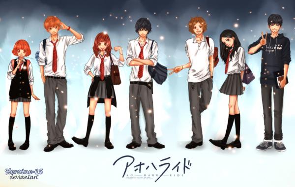 Présentation personnages Ao haru ride