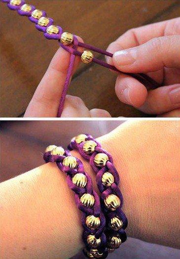 DIY bracelets.