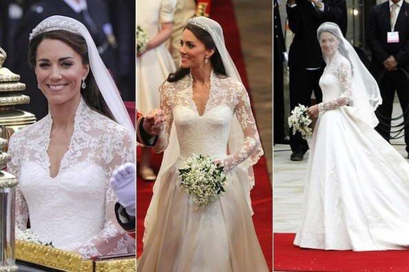 Catherine Duchess of  Cambridge Wedding Dress _  Suite