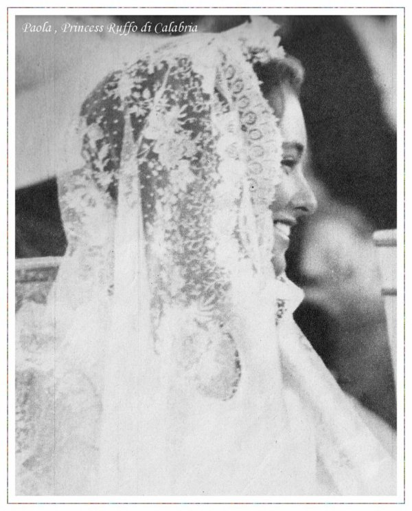 The Wedding Dress - Princess Paola Ruffo Di Calabria _ Queen of Belgium