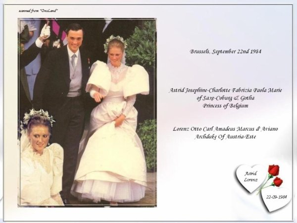The Wedding Dress - Princess Astrid of  Belgium _ Archduss of Austia- Este