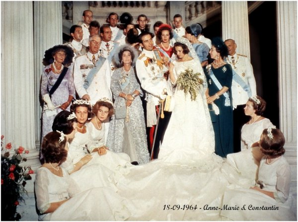 The Wedding Dress - Princess Anne-Marie of Denmark , Queen  of Greece _