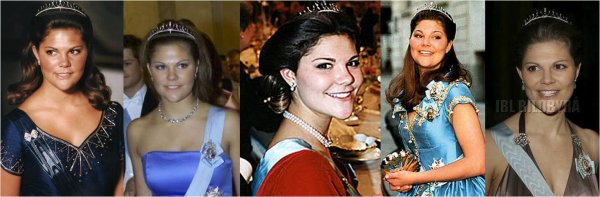 Crown Princess Victoria of Sweden Tiaras