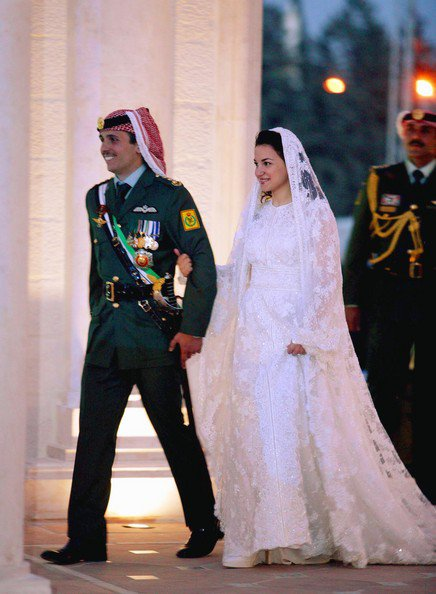 The wedding Dress - Princess Noor Bint Assem of  Jordan