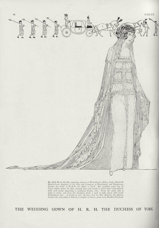 History  Wedding Dress -Lady  Elizabeth Bowes Lyon _ Queen of England