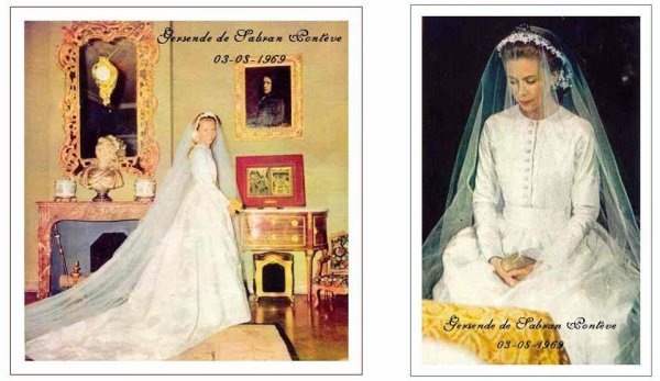 The Wedding Dress - Gersende de Sabran-Ponteves _ Princess of Orleans