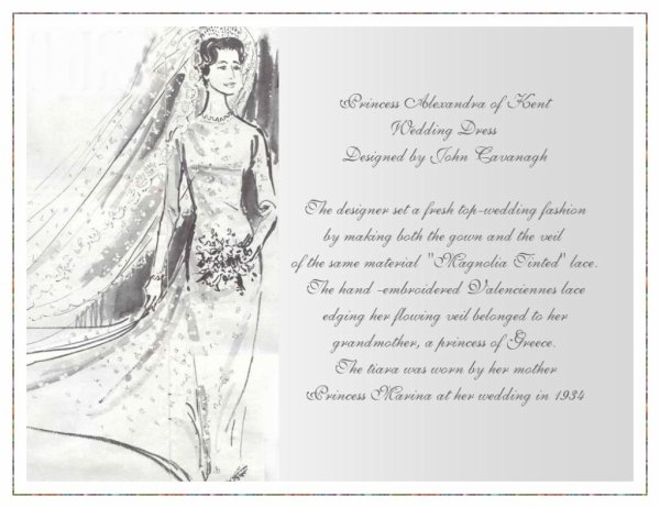 Wedding Dress - Princess Alexandra of Kent  _