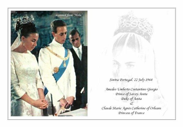 The Wedding Dress - Claude of Orléans ,Princess of France _ Princess of Savoy- Aosta
