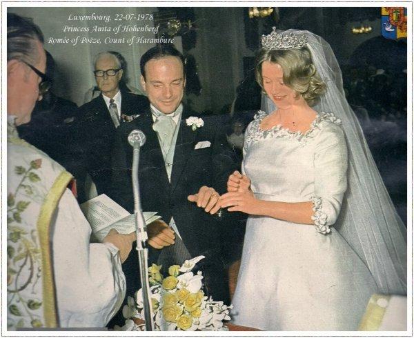 The Wedding Dress - Princess Anita of Hohenberg _ Comtess of  Harambure