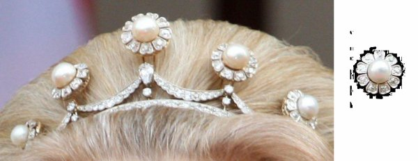 the Pearl Button Tiara