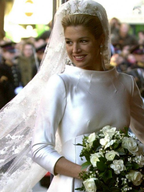 Wedding Dress - Máxima Zorreguieta _ Crown Princess of the Netherlands / Suit