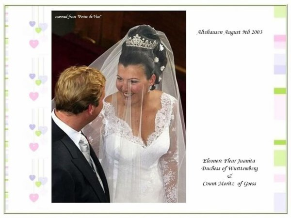 The Wedding Dress - Duchess Fleur of Württemberg _ 2003     * Suite *