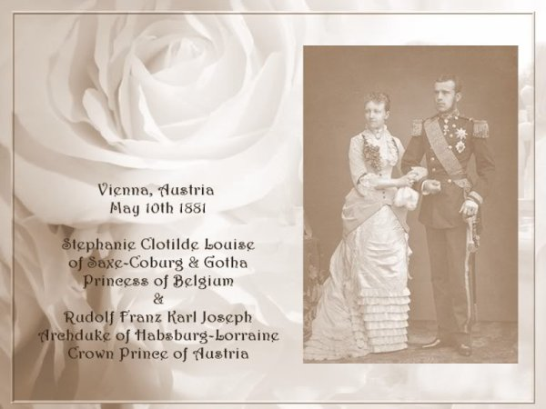 History Wedding Dress - Princess Stephanie of Belguim _ Crown prince of Austria