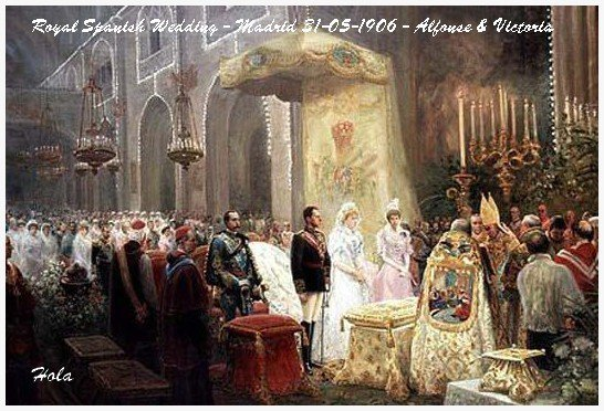 History Wedding Dress - Princess Victoria Eugenie Julia Ena of  Battenberg _ Queen of Spain