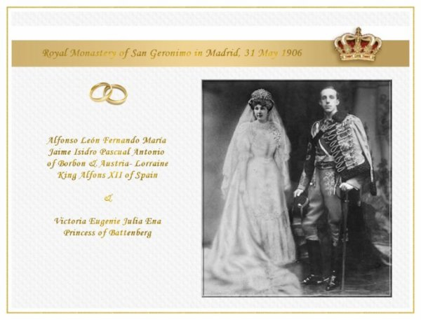 History Wedding Dress - Princess Victoria Eugenie Julia Ena of  Battenberg _ Queen of Spain