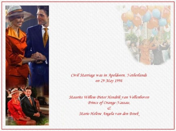 """The Wedding Dress - Marilène Van den Broek _ Princess of Oranje- Nassau  """"Suite"""""""