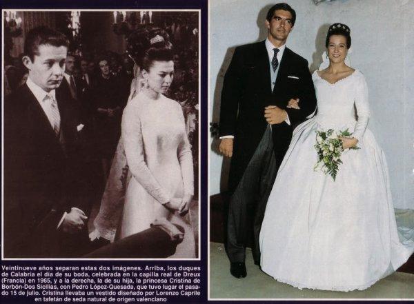 The  Wedding Dress -  Princess Christina of Bourbon-TwoSicilies