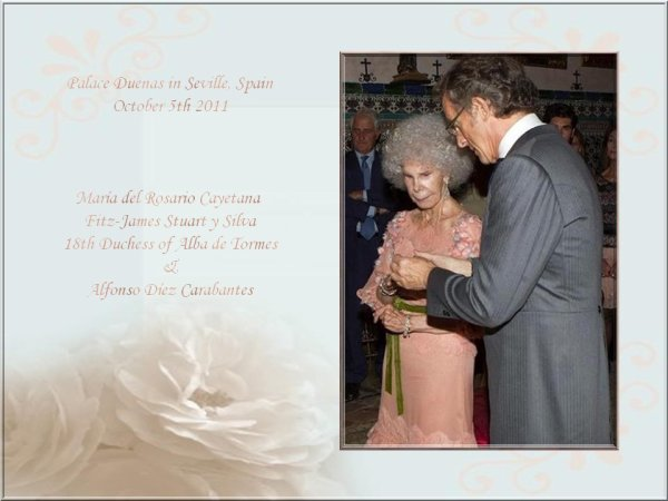 Duchess of Alba's Wedding Dress