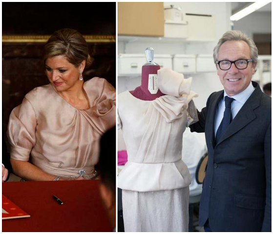 SPECIAL DRESS  QUEEN  MAXIMA of Netherlands