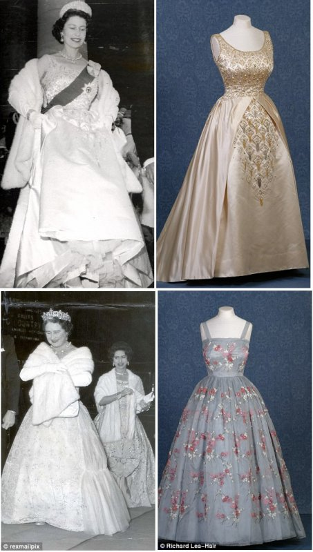 Royal-fashion-1950s-1990s , Queen-Princess-Margaret-Dianas-style