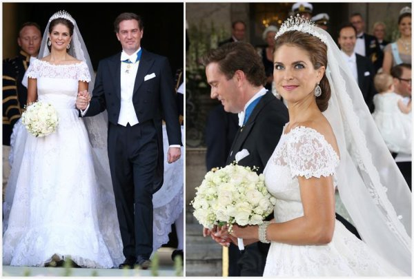 Royal Wedding Dress 2013 - Princess Madeleine of Sweden