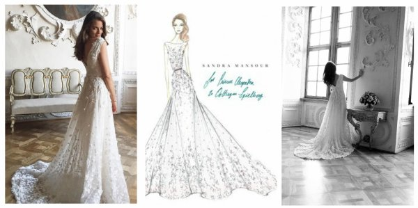 Cleopatra Albrecht zu Oettingen-Spielberg Wedding Dress 2016