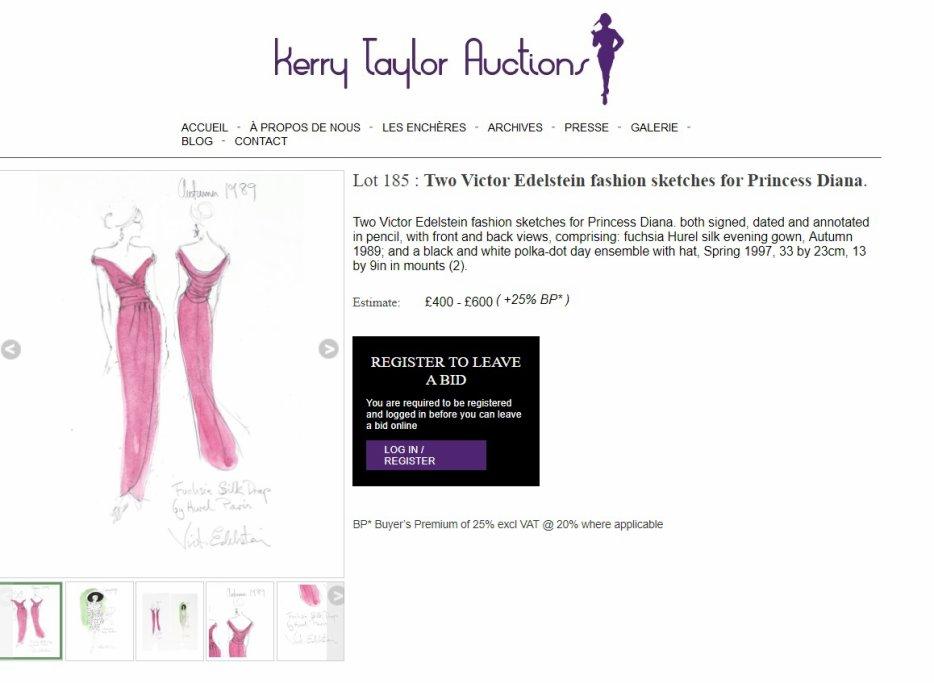 Princess Diana  the Kerry Taylor Auction
