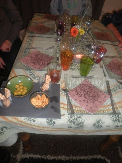 table d'anniversaire femme, la quarantaine . Juste 10 mn pour faire une jolie table, j'improvise ...