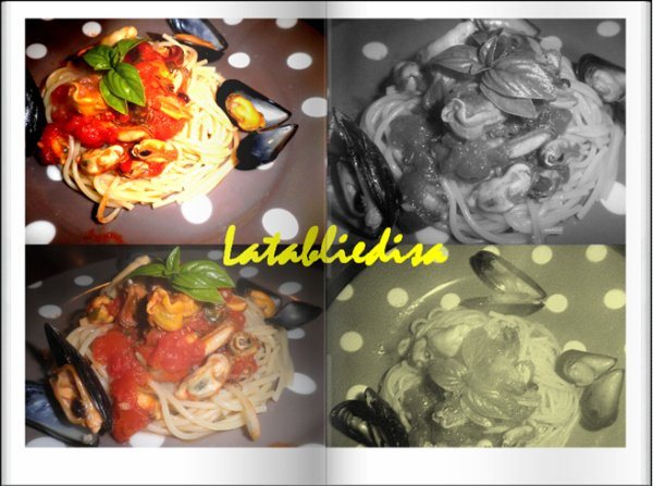 Spaghettis aux fruits de mer!