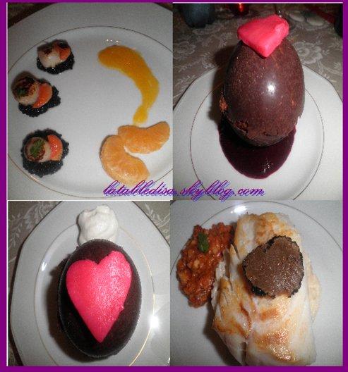 St Valentin  2012: le menu