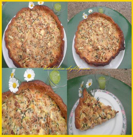 La tarte aux courgettes et au thon