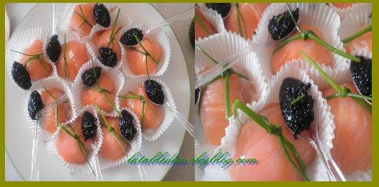 Petites bouchées de saumon