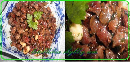 Porc caramélisé au gingembre et aux amandes