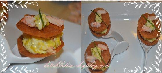 Bouchée crabe-poireaux