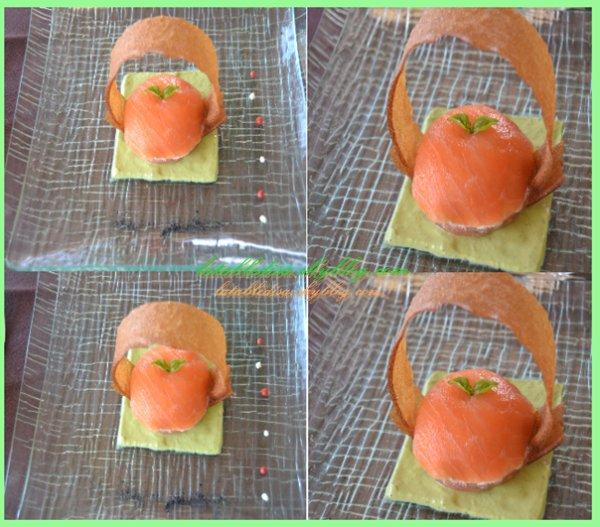 Dôme de saumon sur lit de basilic : la recette