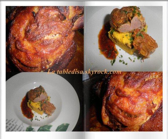 Jarret de porc confit aux épices