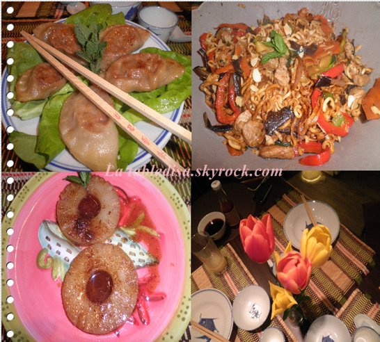 Soirée chinoise : le menu