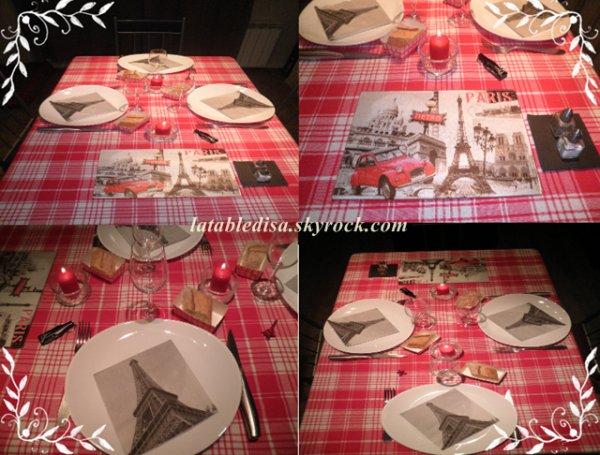 """Table """"brasserie Parisienne"""" : la déco"""