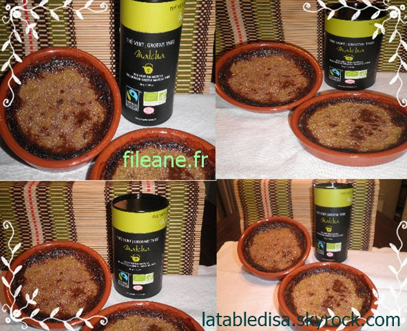 Crème brulée au thé Matcha (partenaire Fileane)