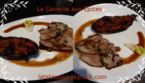 Rôti de veau laqué aux épices ( la Caverne aux épices)