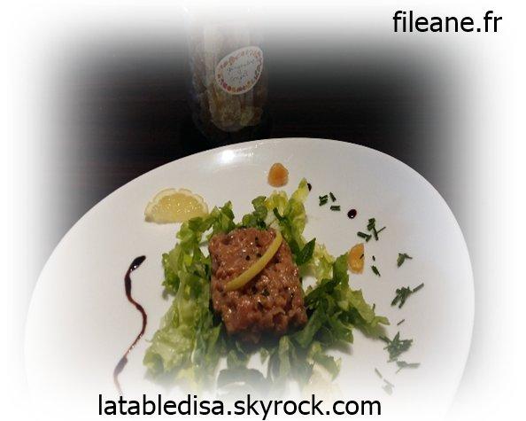 Tartare aux deux saumon et au gingembre confit ( fileane.fr)