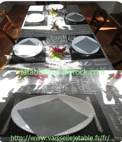 Table d'anniversaire homme 80 ans sets de table de mon partenaire THOUY