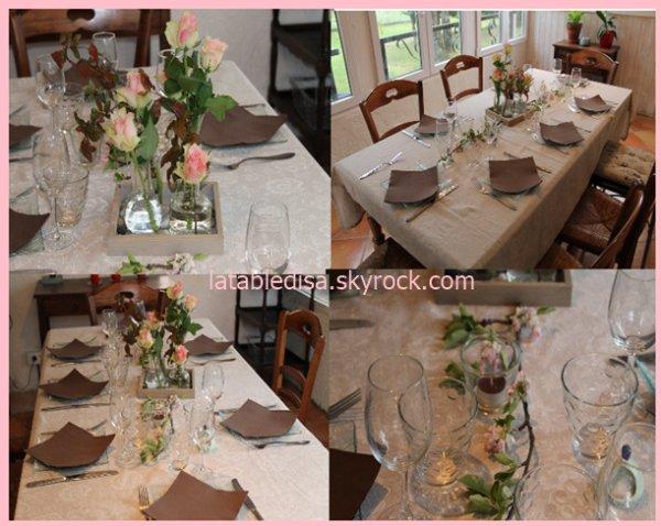 Table d'avril pour un diner entre amis