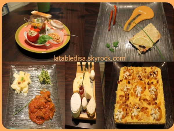 Déjeuner entre amis: le menu