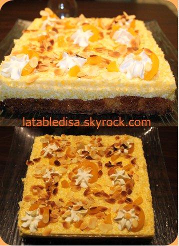 gâteau léger aux pèches et aux amandes