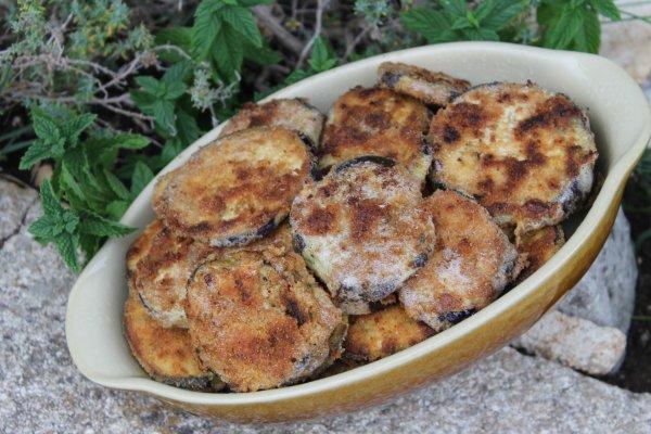 aubergines panées