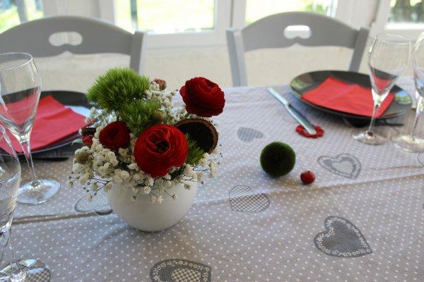 Déco de table d'un déjeuner entre amis