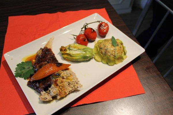 déjeuner entre amis : le menu